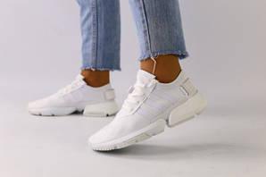 Женские кроссовки белая сетка, 36