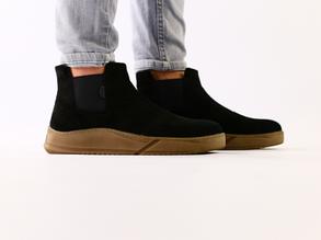 Мужские черные замшевые ботинки на резинке