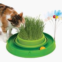 Hagen Catit 3in1  - игровой круг с мини-садом для кошек (43002)