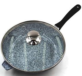 Сковородка Benson BN-521 28*7 см WOK с крышкой и гранитным покрытием