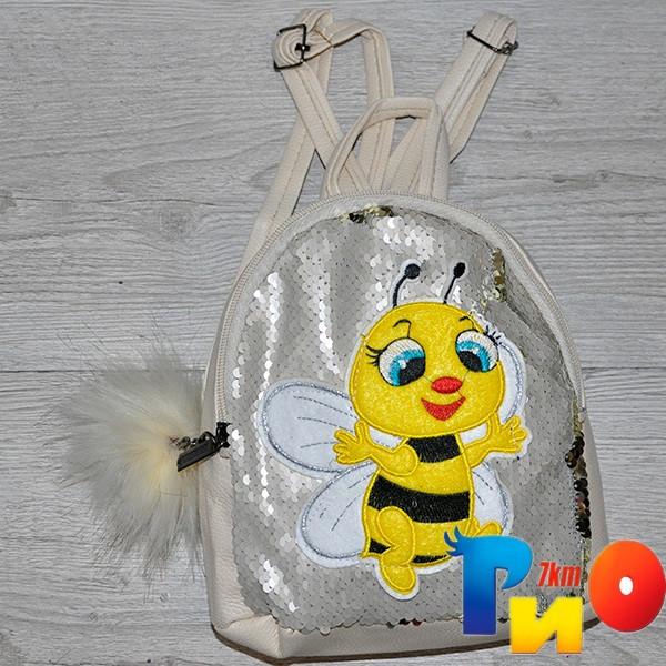 "Рюкзак для девочек с рис ""Пчелка""размер 23 /18/10 см (мин.заказ-1 ед)"