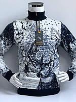 Свитер мужской фактурной вязки  Vicente с высоким горлом