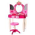 Трюмо детское игрушечное с зеркалом, со стульчиком и аксессуарами 661-21, фото 2