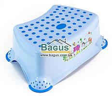 Подставка (табурет) для детей пластиковая (цвет - голубой) Irak Plastic (Турция) CM-510-2