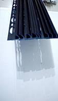 Раскладка под плитку. Уголок для плитки черный 12 мм
