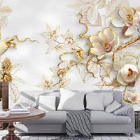 Фотообои, цветы, с эффектом 3D, объемный рисунок,
