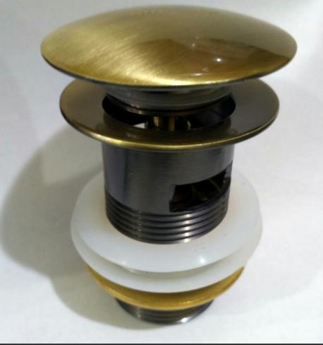 Пробка с переливом бронза  7-034