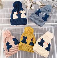 Шапка детская демисезонная теплаязима весна шапка демісезонна весна