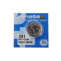 Часовая батарейка Renata 391 / SR 1120W / AG8 (1шт.), фото 1