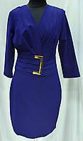 Платье женское синее нарядное, до колена, Турция