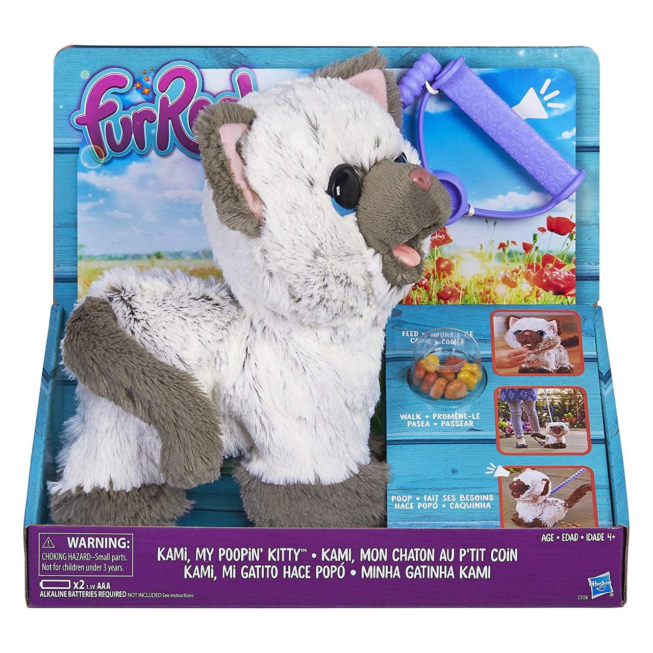 Интерактивный котенок Ками FurReal Friends Kami My Poopin Kitty Plush