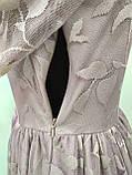 Платье длинное лавандового цвета с поясом, Турция, фото 6