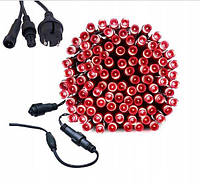 Новогодняя гирлянда 8 м 100 LED (Красный цвет), фото 1