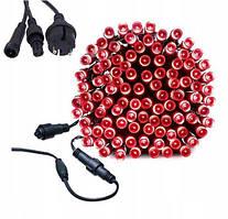 Новогодняя гирлянда 23 м 300 LED (Красный цвет)