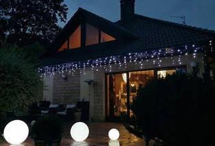 Новогодняя гирлянда бахрома 8 м 200 LED (Холодный белый с синей вспышкой), фото 2