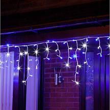 Новогодняя гирлянда бахрома 23,5 м 500 LED (Синий с холодной белой вспышкой), фото 3