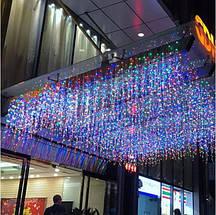 Новогодняя гирлянда бахрома 23,5 м 500 LED (Многоцветная с холодной белой вспышкой), фото 3