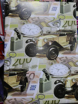 Подарочная коробочка с рисунком машина
