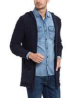 Мужская мантия LC Waikiki / ЛС Вайкики синяя, с накладными карманами и капюшоном, фото 1