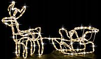"""Новогодняя гирлянда """"Олень"""" 123 см (Теплый белый + флеш), фото 1"""