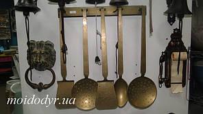 Кухонная латунная утварь для зоны барбекю антикварная (бронза)