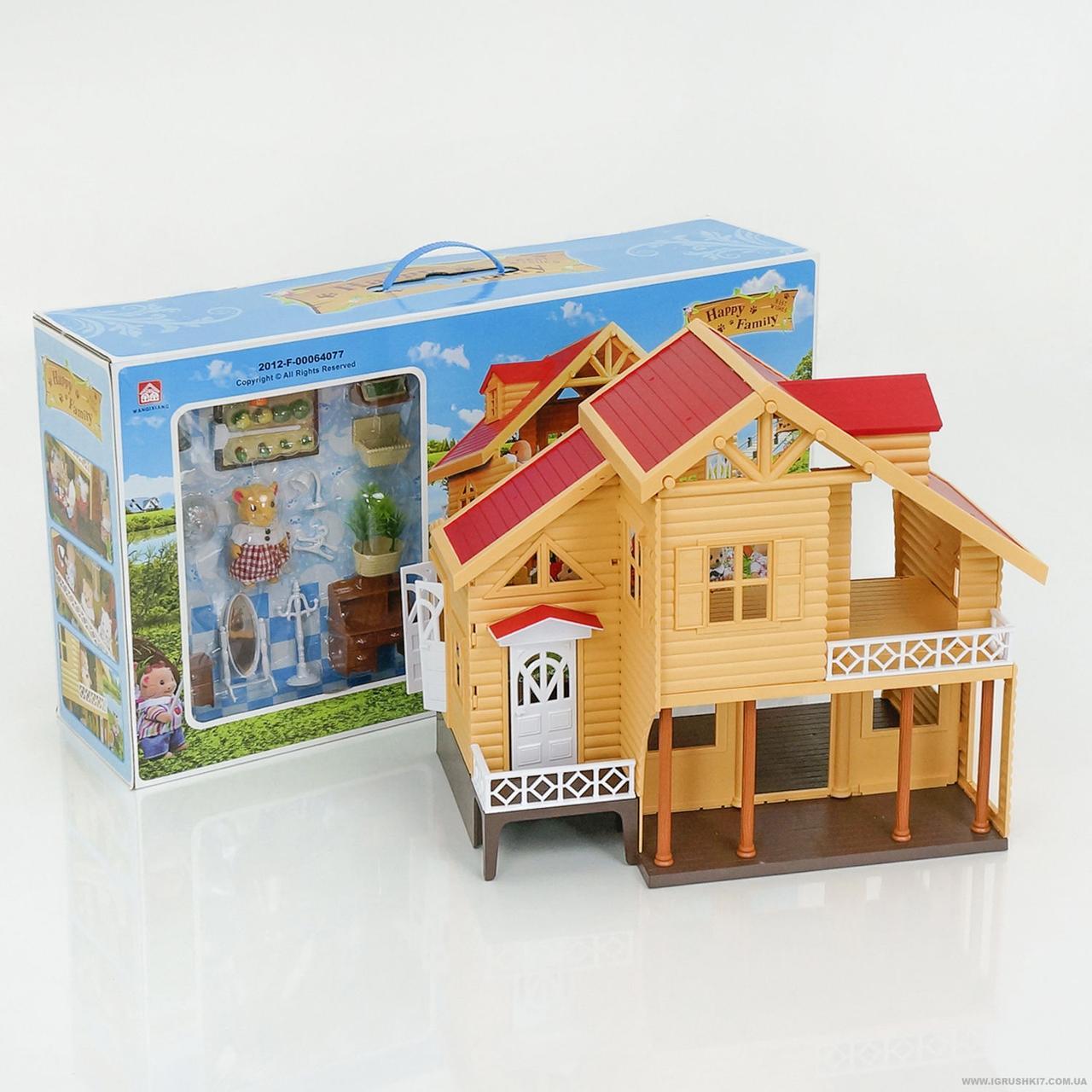 Бревенчатый кукольный домик 012-03