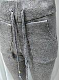 Женский кашемировый спортивный костюм, кофта и штаны, серый, фото 4