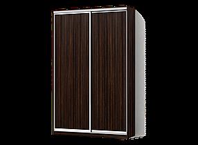 Шкаф-Купе Двухдверный Стандарт-3 ДСП Зебрано темный (Luxe-Studio TM)