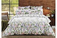 """Комплект постельного белья хлопковый полуторный с цветами """"Прованс"""""""