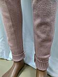 Женский кашемировый спортивный костюм, кофта и штаны, розово-пудренный, фото 3