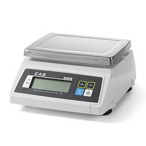 Весы кухонные настольные водонепроницаемые CAS 2 кг, на аккумуляторах, Hendi