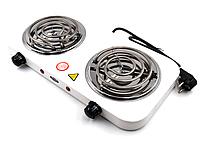 Двухконфорочная настольная спиральная электроплита WimpeX WX-200B, фото 1