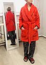 💋 Плюшевый Халат Victoria's Secret Cozy Plush Robe р. XS/S, Красный, фото 3