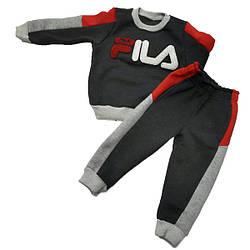 Детский трикотажный костюм на флисе, р-р 92-116 см (5 ед в уп)