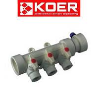 Koer полипропиленовый коллектор на 3 выхода (40*20)
