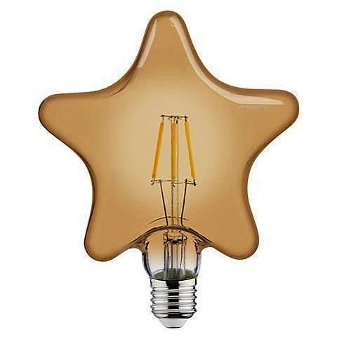 ретро лампа в форме звезды