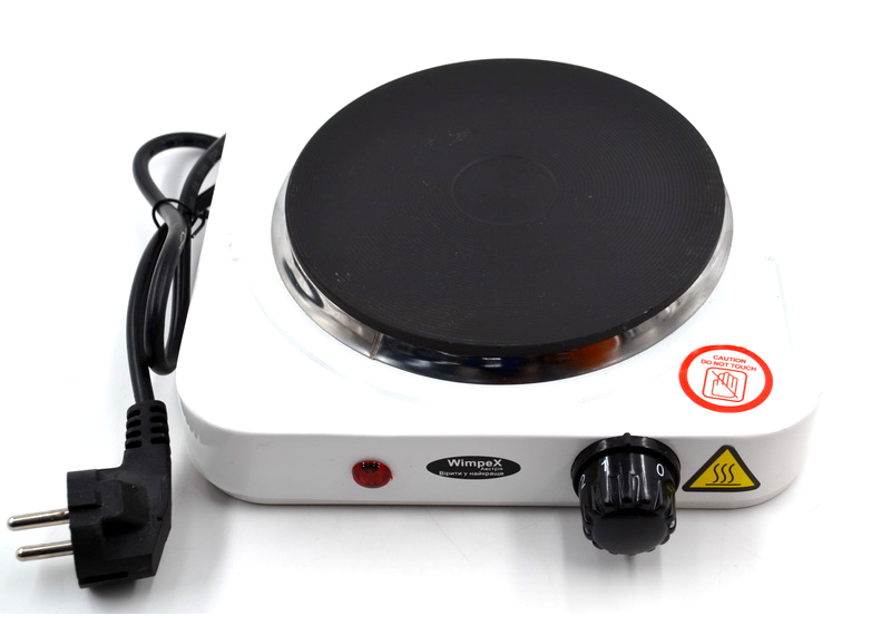 Электроплита WimpeX WX-100A плита настольная дисковая, фото 1