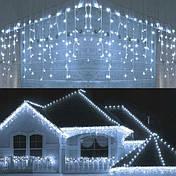 Новорічна гірлянда бахрома 14,5 м 300 LED (Холодний білий), фото 2