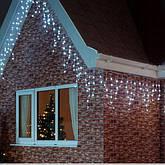 Новорічна гірлянда бахрома 14,5 м 300 LED (Холодний білий), фото 3