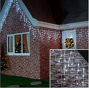 Новогодняя гирлянда бахрома 23,5 м 500 LED (Холодный белый), фото 3