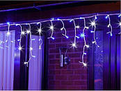 Новогодняя гирлянда бахрома 23,5 м 500 LED (Синий с холодной белой вспышкой), фото 2
