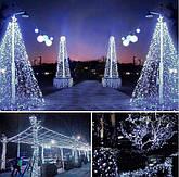 Новогодняя гирлянда 54 м 700 LED (Холодный белый цвет), фото 2