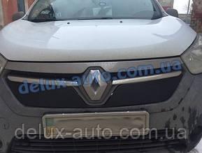 Зимняя решетка глянец на Renault Dokker 2013↗ гг.