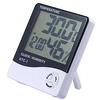 Метеостанция домашняя HTC-1 3 в 1 +Часы +Гигрометр +Влагомер, фото 1