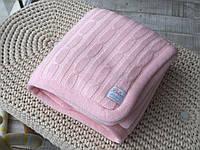 Плед детский вязаный с мехом 80x110 BETIRES LOVELY PINK (100% акрил) розовый