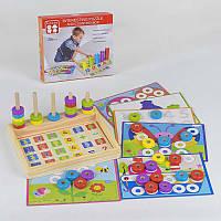 Деревянная игра Обучающий набор с мозаикой - 182170