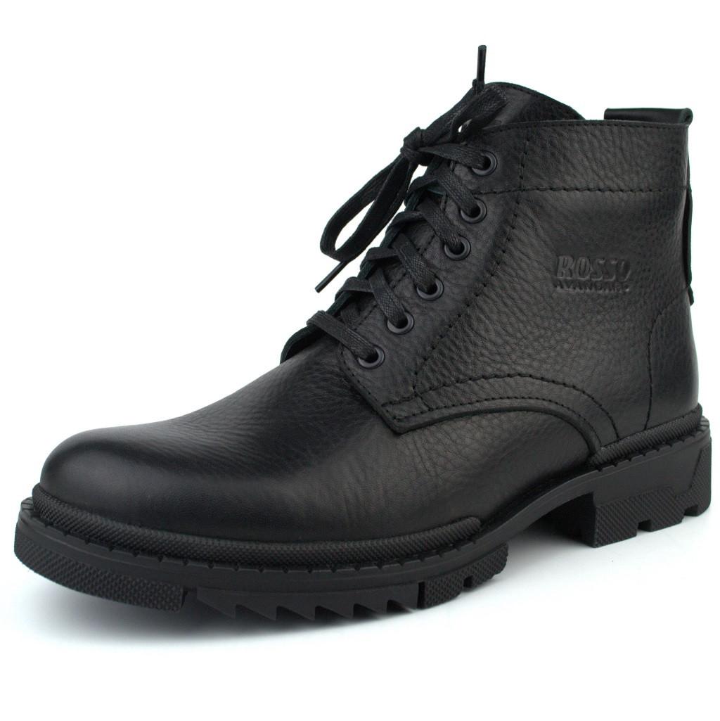 Зимові черевики ручної роботи з натуральної шкіри чоловіче взуття Ultimate by Rosso Avangard
