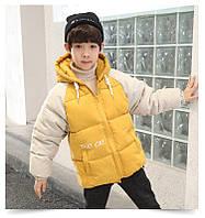 Тепла куртка-бомбер для хлопчика, 3 кольори, фото 1