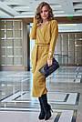 Элегантное платье женское р. от 42 до 48, вязка цвета горчица, фото 3