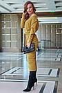 Элегантное платье женское р. от 42 до 48, вязка цвета горчица, фото 5